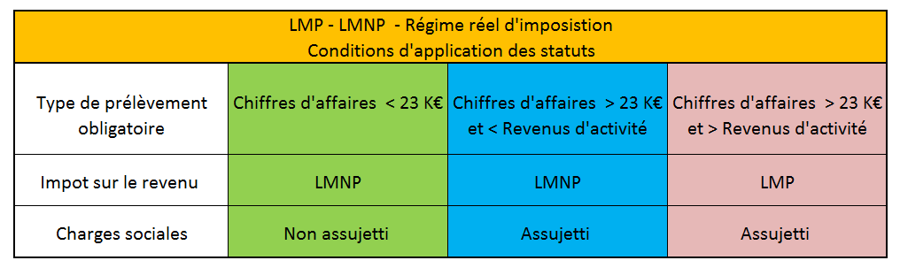 LMP LMNP comparaison des statuts